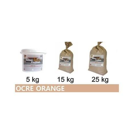 Béton ciré coloré Ocre Orange KIT COMPLET   5kg (kit complet) ~6m2