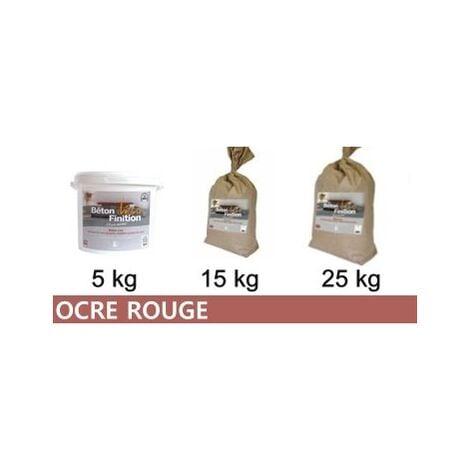 Béton ciré coloré Ocre Rouge KIT COMPLET   5kg (kit complet) ~6m2