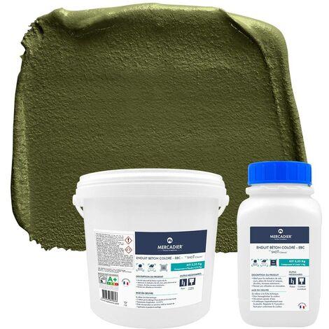 Béton Ciré - Enduit Béton Coloré EBC - Mercadier - Salina - Le/shoT 5,35kg jusqu'à 2.5m² (voir détai