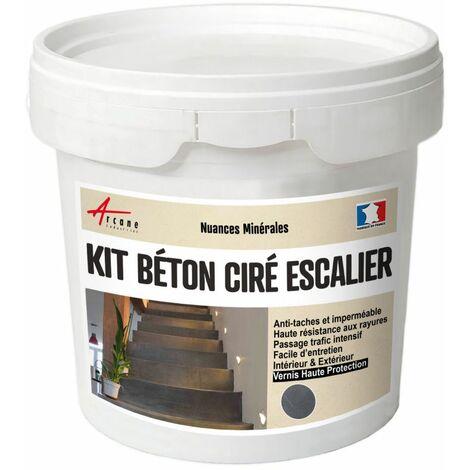Béton Ciré Escalier - Kit Complet avec primaire et vernis