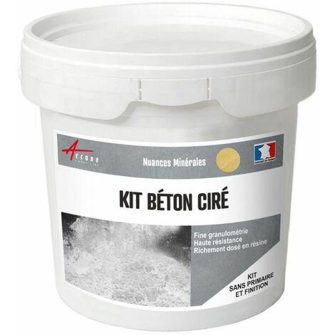 Béton Ciré : Kit enduit + Résine + Colorant - 40 couleurs