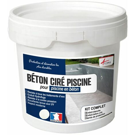 BETON CIRE PISCINE BETON CIMENT - revetement piscine étanché, décoration et protection