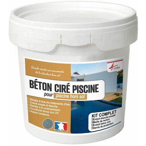 BETON CIRE PISCINE HORS SOL - Kit complet enduits HAUTE RESISTANCE