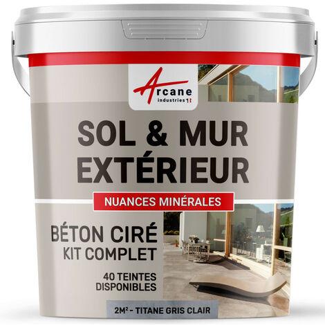 BETON CIRE TRES HAUTE RESISTANCE - béton ciré extérieur pour sols, murs, terrasses, balcons, escaliers extérieurs