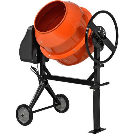 Betonmischer 140 Liter Betonmischmaschine Zementmischer Mörtelmischer