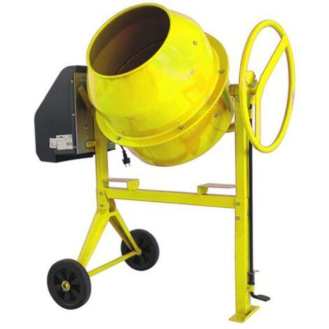 Bétonnière électrique de construction Monophase 125Lt 550W jaune Lis135 Lis