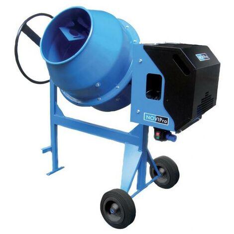 Bétonnière électrique NP200 180 L moteur 230 V/50 Hz 25 tours/mn roue Ø 250 mm 90 kg