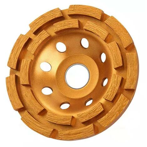 """main image of """"BETT 115mm X 22.2mm 4.5 Inch Diamond Grinding Disc Double Row Abrasive Cup Wheel Segment Grinding Wheels Angular Cup Grinders For Concrete Granite Stone Masonry Marble and Removing Plaster"""""""