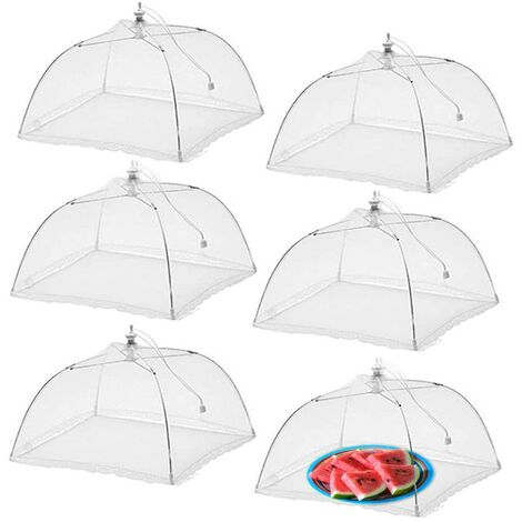 """main image of """"BETT 6pcs Fly Anti Folding Food Bell Folding Mesh Food Cover Tent Umbrella Insect Repellent Mosquito Repellent Protection for Barbecue Picnic Foods"""""""