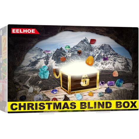 "main image of ""BETT Advent Calendar 2021, Christmas Ore Blind Box Toys, 24 Day Surprise Advent Calendar, Earth Science Activity Kit, Blind Box Gift for Kids (1 set)"""