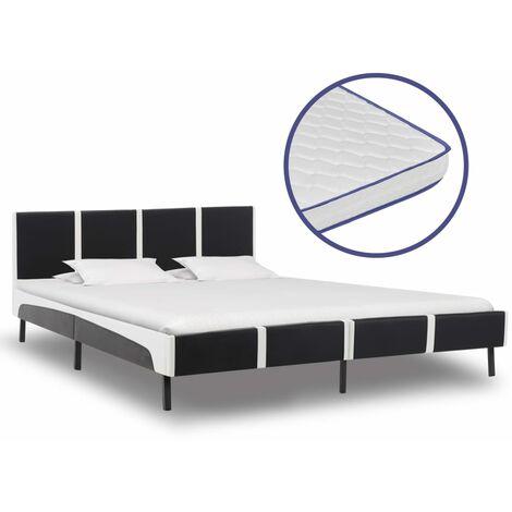 vidaXL Metallbett Memory Schaum Matratze 140x200cm Bett Bettgestell Doppelbett