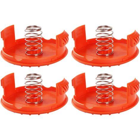 "main image of ""BETTE 4PCS Spool Caps + 4PCS Springs Spare parts Accessories compatible with BLACK + DECKER RC-100 trimmers"""