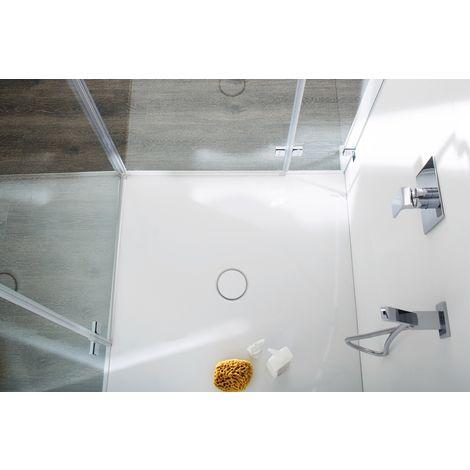 Bette BetteFloor Duschfläche 100 x 80 cm Grau matt, Typ 411 5491-411