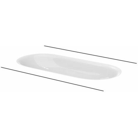 Bette Comodo Vasque à poser, sans trou de robinet, A218, 774 x 380 mm, Coloris: Blanc avec BetteGlasur Plus - A218-000,PW