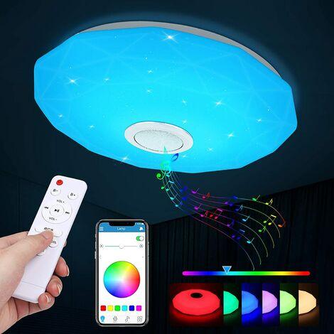 "main image of ""BETTE LED Ceiling Light, 36W Ceiling Light with Bluetooth Music Speaker, RGB Bedroom Ceiling Light with remote control and APP control, 3000-6500K Indoor Ceiling Light for Kids Room, Living Room"""