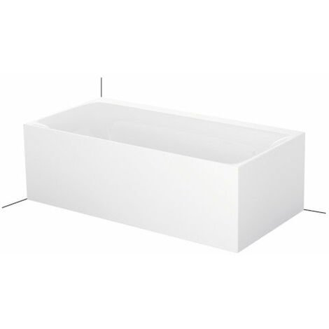 Bette Lux IV Silhouette Side, 170x85cm, Bañera de acero, instalación en la esquina izquierda, 3460CERVS, color: Blanco - 3460-000CERVS