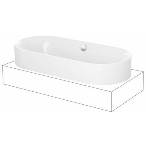 Bette Lux Oval Highline, bañera 180x80x45cm, 3466CFXXH, color: Blanco - 3466-000CFXXH