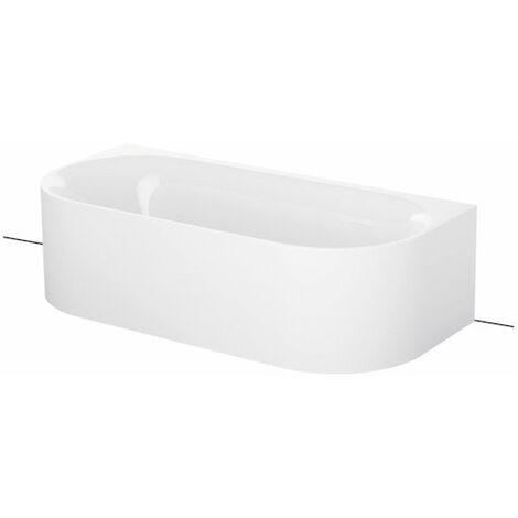 Bette Lux Oval I Silhouette vasca da bagno a parete 170x80x80x45cm, 2 posteriori inclinate, 3415CWVVVS, colorazione: Bianco - 3415-000CWVVS
