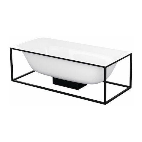 Bette Lux Shape baignoire rectangulaire autoportante 190x90x45cm, 2 fonds inclinés, 3453-, Coloris: Blanc - 3453-000