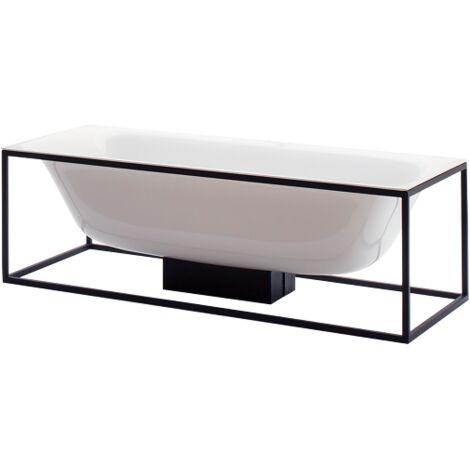 Bette Lux Shape baignoire rectangulaire autoportante 190x90x45cm, 2 fonds inclinés, 3453-, Coloris: Noir - 3453-056