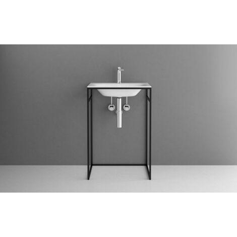 Bette Lux Shape Cadre de lavabo pour lavabo à encastrer, Q010 600x495x890 mm, Coloris: Noir Texture fine matte - Q010-815