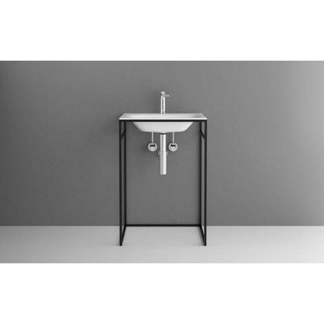 Bette Lux Shape Cadre de lavabo pour lavabo à encastrer, Q010 600x495x890 mm, Coloris: Structure fine menthe matte - Q010-817