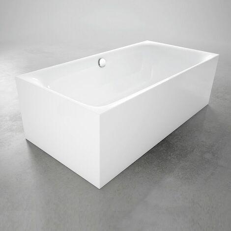 Bette Lux Silhouette, 180x80cm, baignoire sur pieds, 3441CFXXS, Coloris: Blanc - 3441-000CFXXS