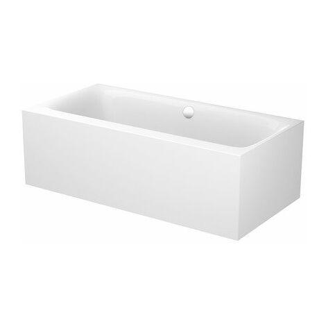 Bette Lux Silhouette Side, 180x90cm, bañera de acero independiente, 3461CFXVS, color: Blanco - 3461-000CFXVS