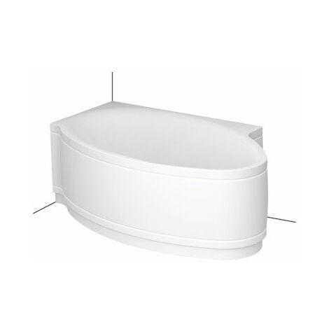 Bette Piscine I Baignoire confort 6052CERV, 161x102cm, gauche, Coloris: Blanc avec BetteGlasur Plus - 6052-000CERV,Plus