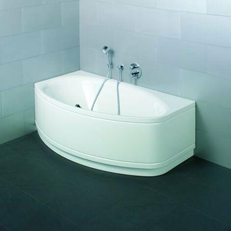 Bette Pool II Panel corner 6054CERV, 164x96cm, lado izquierdo, color: Blanco con BetteGlasur Plus - 6054-000CERV,Plus