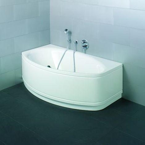 Bette Pool II Panneau d'angle 6054CERV, 164x96cm, côté gauche, Coloris: Blanc avec BetteGlasur Plus - 6054-000CERV,Plus