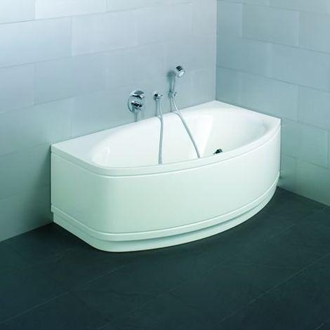 Bette Pool II Panneau d'angle, 6055CELV, 164x96cm, côté droit, Coloris: Blanc avec BetteGlasur Plus - 6055-000CELV,Plus