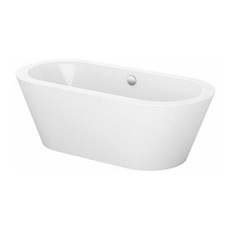 Bette Starlet Oval Silhouette, 150x80cm, baignoire autoportante, 2700CFXXK, Coloris: Blanc - 2700-000CFXXK