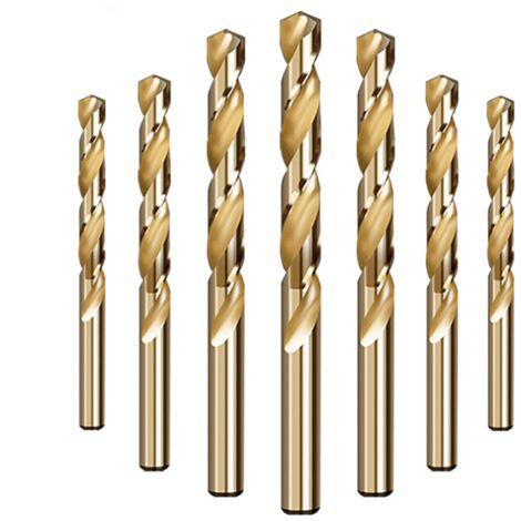 Betterlife 10 forets à queue droite en alliage à bois en métal en boîte Forets hélicoïdaux M35 contenant du cobalt 8,0 mm=