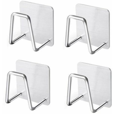 BetterLife 4pcs Sponge Door, Kitchen Sink Support, Standing Steel Stainless Steel Kitchen Tool Sponge Drink, Dishwasher, Dishwashes, Bath Balls