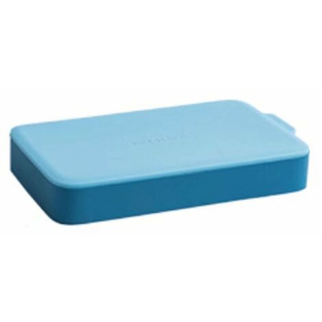 Betterlife Bac à glace en silicone avec couvercle pour faire du hockey sur glace fait maison petit réfrigérateur à congélateur rapide pour réfrigérateur congelé moule à glaçons (bleu clair)