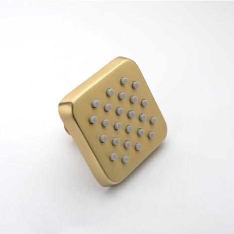 betterlife Badezimmer Duschkopf, gebürstetes Gold
