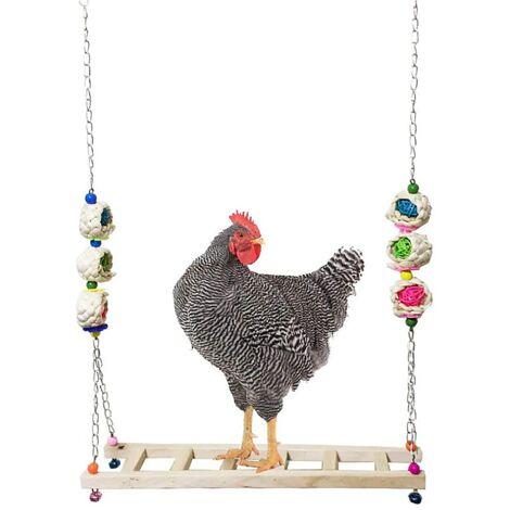 Betterlife Balançoire au poulet Jouets de poulet Fournitures de volaille Ustensiles Cage de poulet Jouets Peck de poulet Jouets de perroquet Jouets de cage à oiseaux=