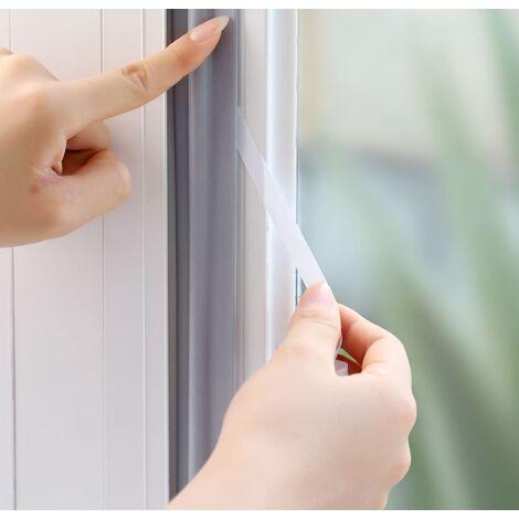 Betterlife Bandes d'étanchéité de fenêtre de porte portable bande auto-adhésive en mousse PU bande d'étanchéité étanche à la poussière outils d'isolation phonique
