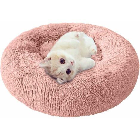 Betterlife Chenil pour chien Litière pour chat amovible et lavable Automne et hiver Tapis pour chien Tapis de chat Litière pour animaux de compagnie Rose 60cm==