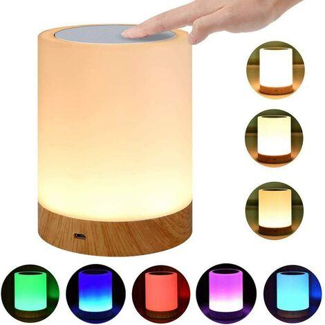 betterlife LED Nachttischlampe, Touch Dimmable Atmosphere Tischlampe für Wohnzimmer Schlafzimmer