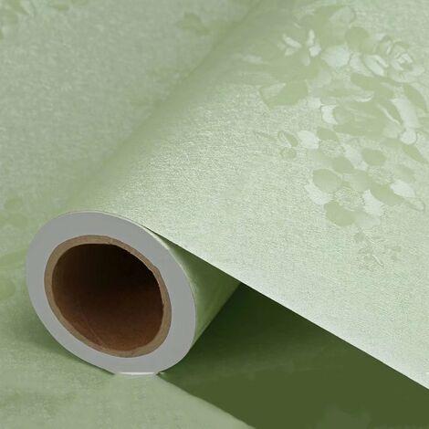 betterlife Papier peint Épaisseur auto-adhésif Espace monochrome dans le style européen influencé de salon imperméable chambre dortoir mur papier peint autocollant stickers mur bleu rose de 3 mètres
