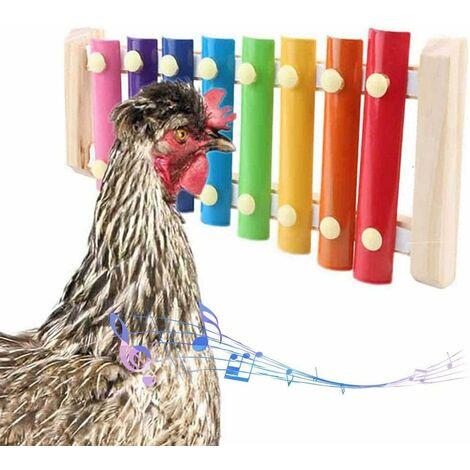 Betterlife Poulet jouet perroquet jouet xylophone jouet 8 clés poulet picorer jouet poulailler picorer jouet jouets pour enfants=