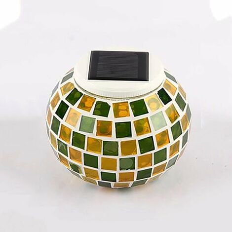 "main image of ""BetterLife solar garden lighting with yellow-green grid"""