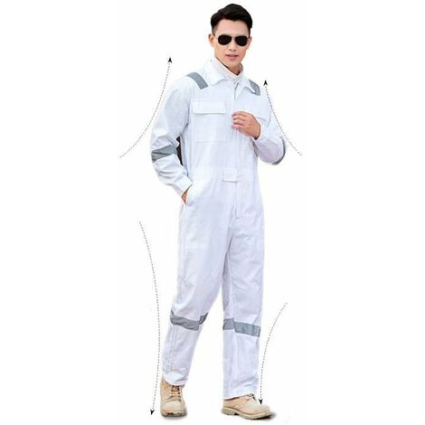 Betterlife Vêtements de protection, vêtements de jardinage, salopettes, (XXXL blanc)