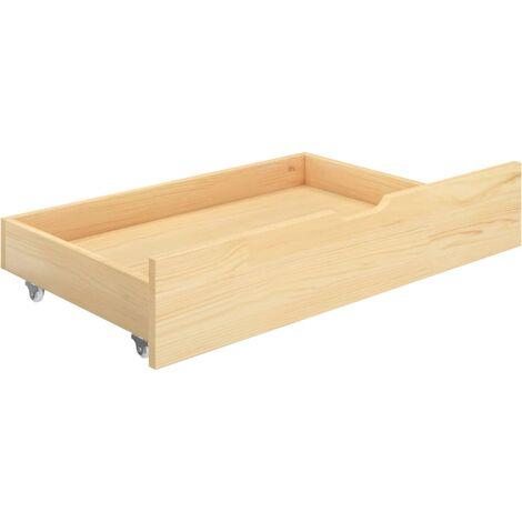 Bettkasten 2 Stk. Kiefer Massivholz