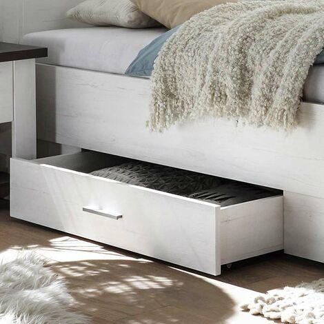 Bettkasten im Landhaus Stil Pinie weiß Nb. SALARA-61 B/H/T ca. 108x16x64cm