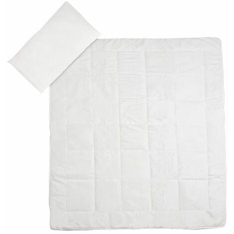 Bettset Microfaser Bettdecke und Kopfkissen - Bettwäsche, Microfaser Bettwäsche