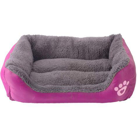 Bettwäsche für Hund - Korb für Hund und Katze - 43 * 32cm (Pink rot)