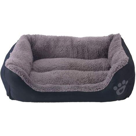 Bettwäsche für Hund - Korb für Hund und Katze - 54 * 42cm (Schwarz)